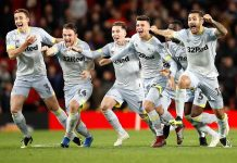 Derby County Singkirkan Manchester United di Piala Liga Lewat Adu Penalti