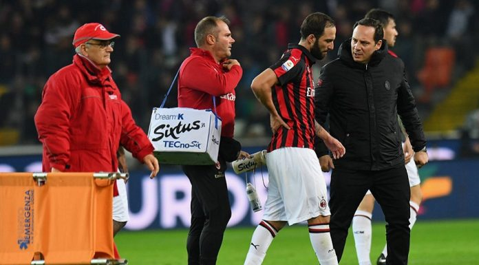 Gonzalo Higuain Cedera Punggung Saat Kontra Udinese