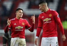 Manchester United; Marcos Rojo, Eric Bailly dan Alexis Sanchez