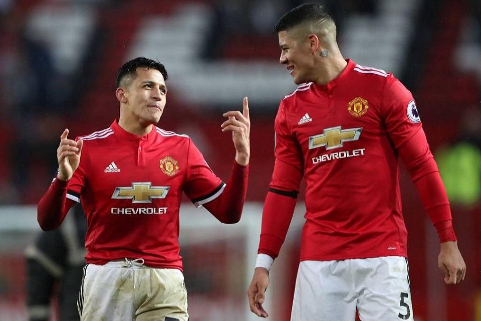 Manchester United; Marcos Rojo, Eric Bailly dan Alexis Sanchez