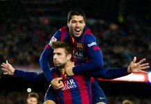 Pique Bantah Bertengkar Dengan Suarez