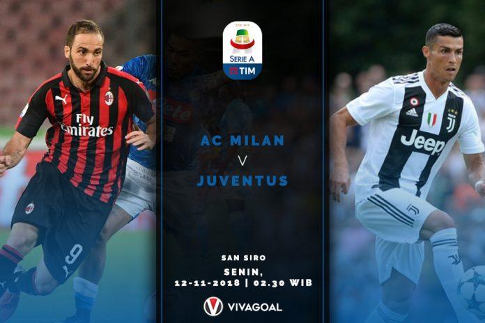 Serie A: Preview dan Fakta Pertandingan Juventus Vs AC Milan