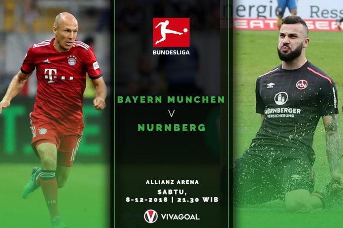 Bayern Diunggulkan atas Nurnberg