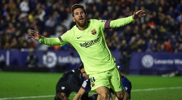 Hat-trick Messi Menangkan Barcelona 5-0 atas Levante