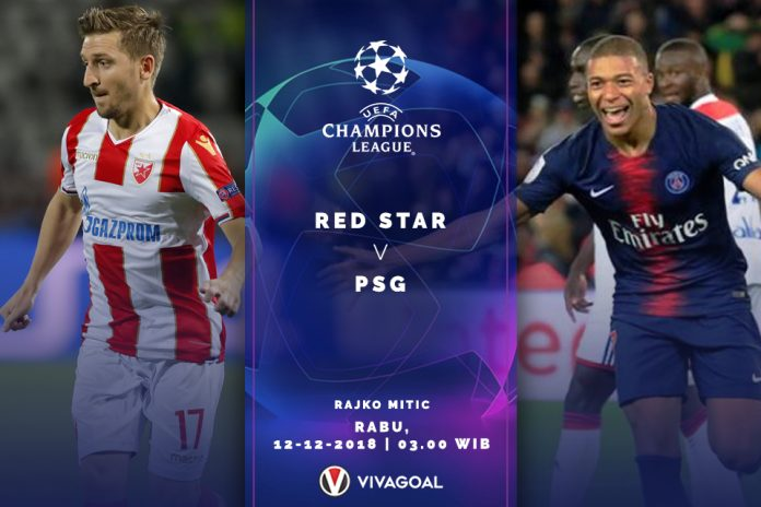 Liga Champions - Red Star - Paris St.Germain