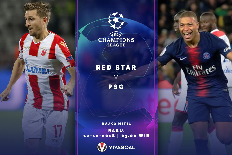 Liga Champions - Red Star - Paris St.Germain