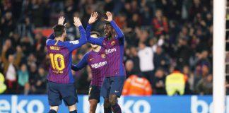 Barcelona Bungkam Levante Lewat Brace Dembele