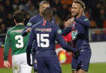Piala Prancis; PSG Bantai tim Kasta Kelima 4-0