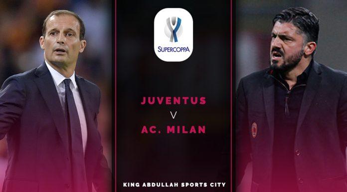 Supercoppa Italiana; Juventus vs AC Milan