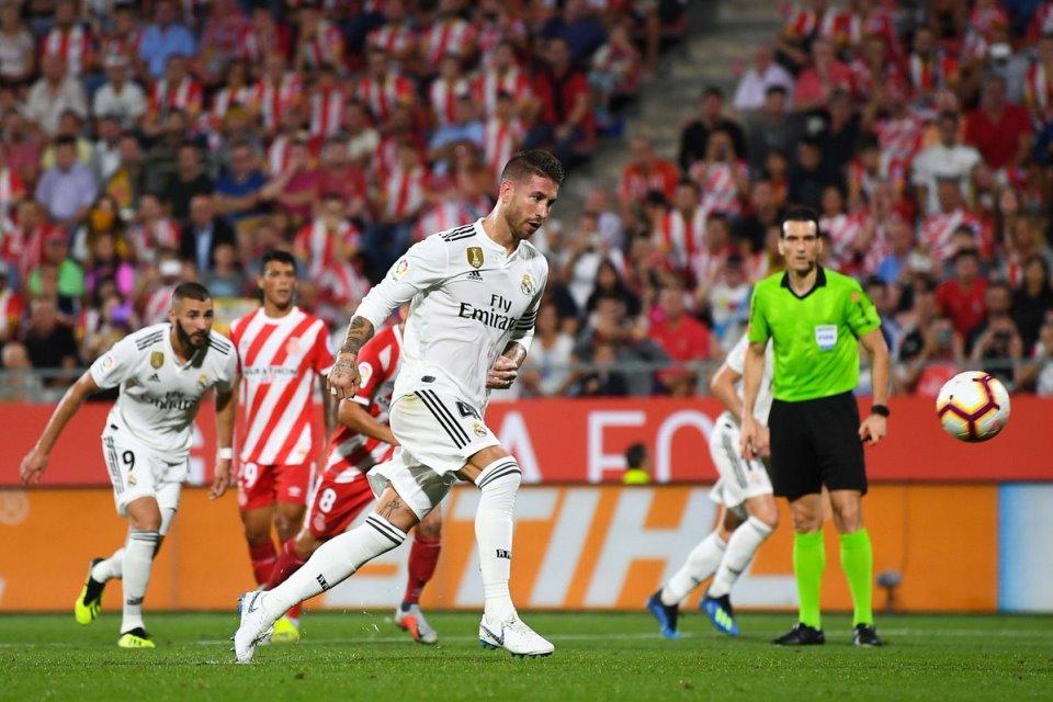 Ramos Ekspresikan Diri Lewat Panenka ke Gawang Girona