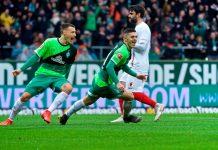 Werder Bremen gegen den FC Augsburg