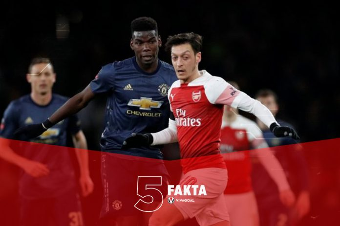 5 Fakta Tak Masuk Akal di Laga Arsenal Vs Manchester United