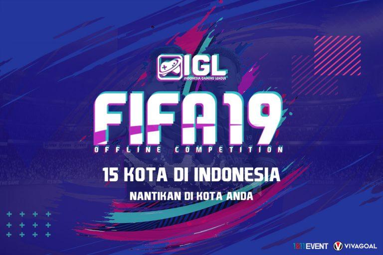 Indonesia Gaming League Gelar Turnamen FIFA 19 Offline Competition di 15 Kota