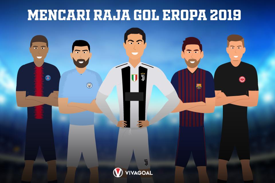 Siapa yang bakal meraih predikat sebagai Raja gol Eropa?