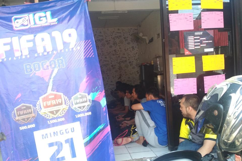Suasana Pertandingan FIFA 19 Offline Competition Bogor