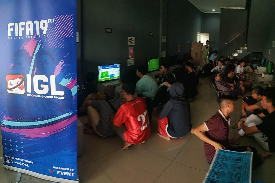 Suasana  FIFA 19 Offline Competition Tangerang