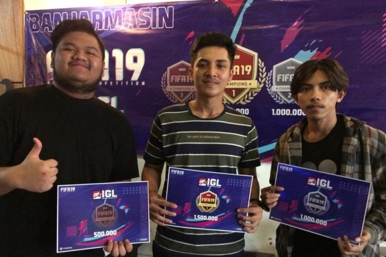 Banjarmasin Tetapkan Tiga Juara FIFA 19 Offline Competition