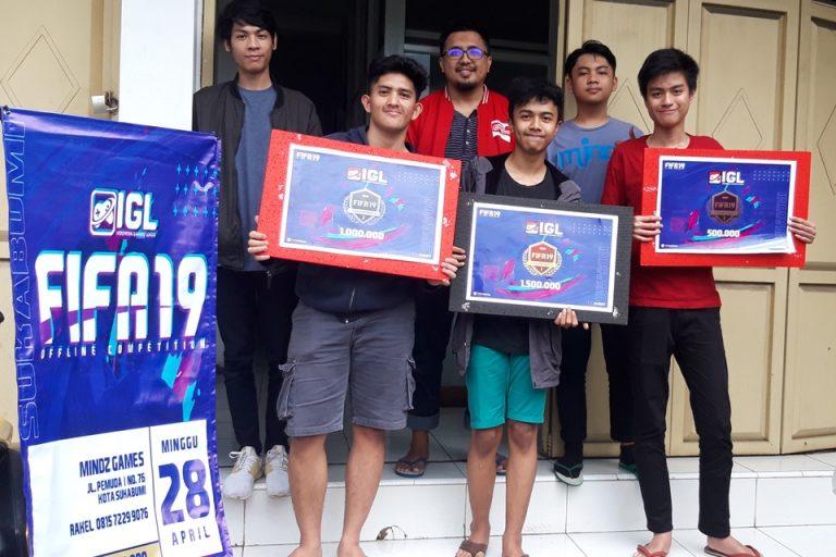FIFA 19 Offline Competition Sukabumi Sumbangkan Tiga Pemenang