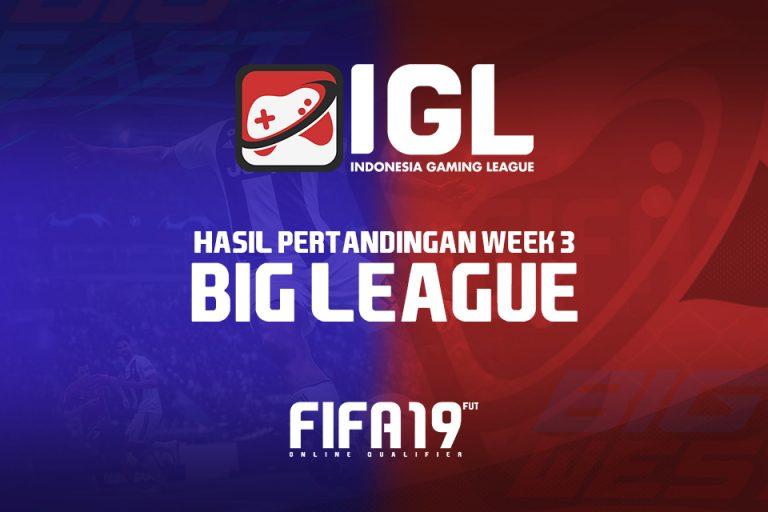 Minggu Ketiga Big League FIFA 19 FUT: Antara Perbaikan Moral Letupan Kecil
