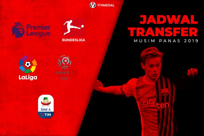 Mengintip Jadwal Pertukaran Transfer Musim Panas 2019 di Lima Liga Eropa Teratas