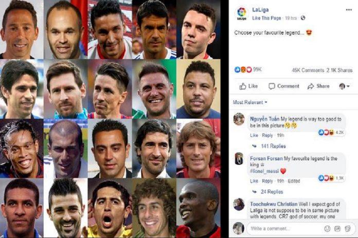 Warganet Bingung, Nama Ronaldo Tak Terpampang di Legenda La Liga