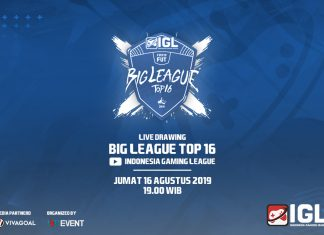 Hasil Drawing Big 16 FIFA 19 FUT Indonesia Gaming League