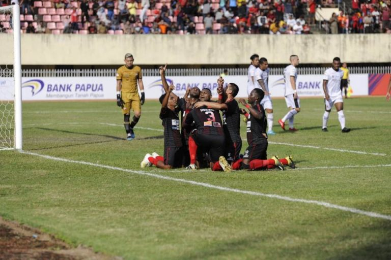 Hasil Shopee Liga 1: Persipura Bungkam Kalteng 2-0