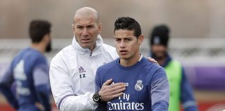 Legenda Kolombia Geram dengan Perilaku Zidane Terhadap James
