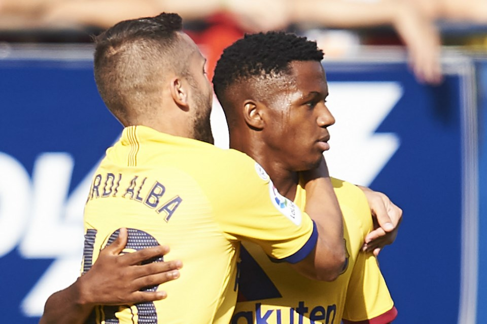 Cetak Gol, Ansu Fati Catatkan Sejarah untuk Sepak Bola Spanyol!