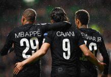 Trio PSG Mbappe Cavani Neymar