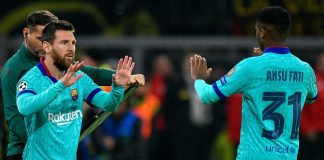 Ansu Fati Lionel Messi