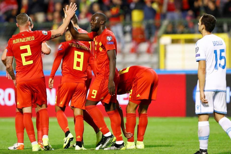 Kualifikasi Euro 2020 Belgia Pesta Gol 9-0 ke Gawang San Marino