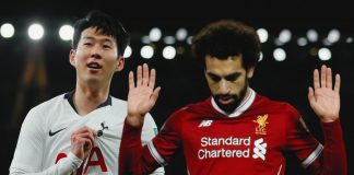 Mohamed Salah and Son Heung-min