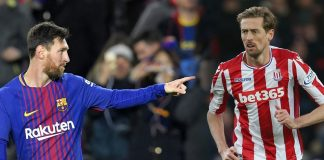 Lionel Messi Peter Crouch