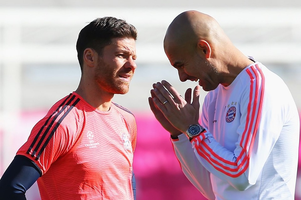 Xabi Alonso And Pep Guardiola