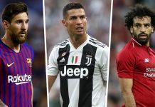 Lionel Messi Cristiano Ronaldo Mohamed Salah
