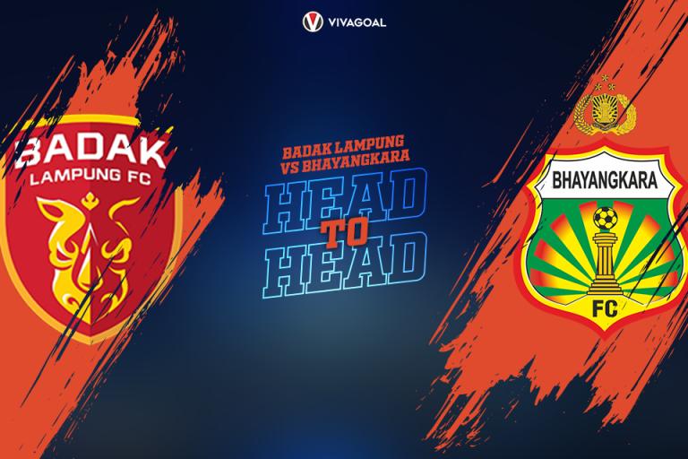 Head to Head Perseru Badak Lampung Vs Bhayangkara FC: