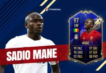 Mendedah Card Team of the Year Sadio Mane di Game FIFA 20