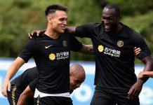 Lautaro Martinez dan Romelu Lukaku Inter Milan