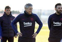 Tindakan Tegas Quique Setien Di Sesi Latihan Perdana Barcelona