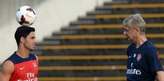 Mikel Arteta dan Arsene Wenger