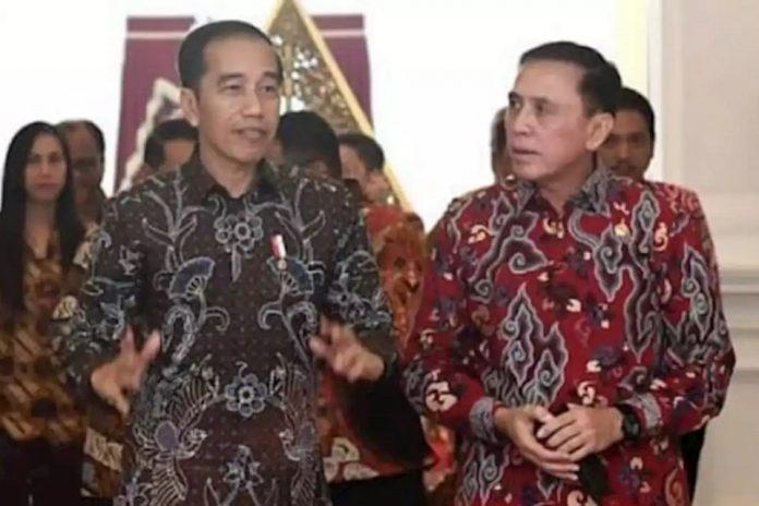 Presiden Jokowi dan Iwan Bule