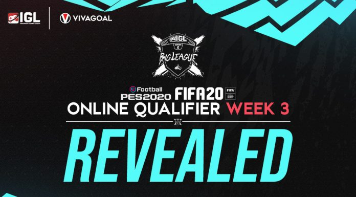Rekapitulasi Online Qualifier IGL Minggu Ketiga FIFA 20 & eFootball PES