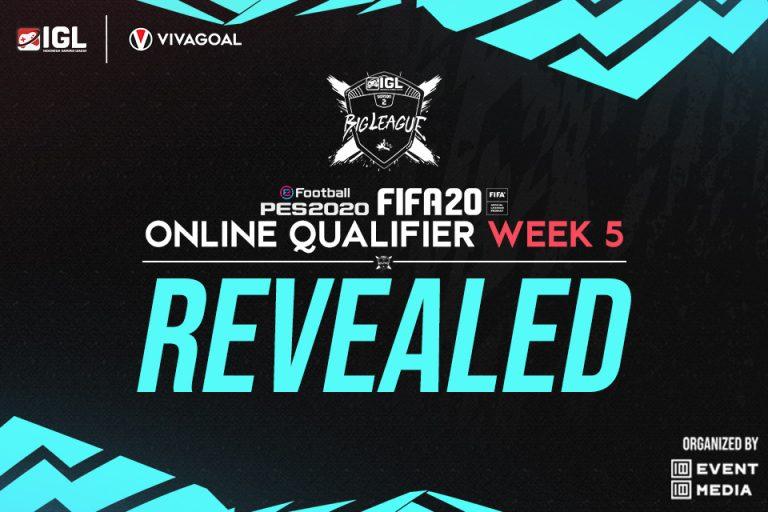 Pemenang Online Qualifier IGL Minggu Kelima FIFA & PES 2020