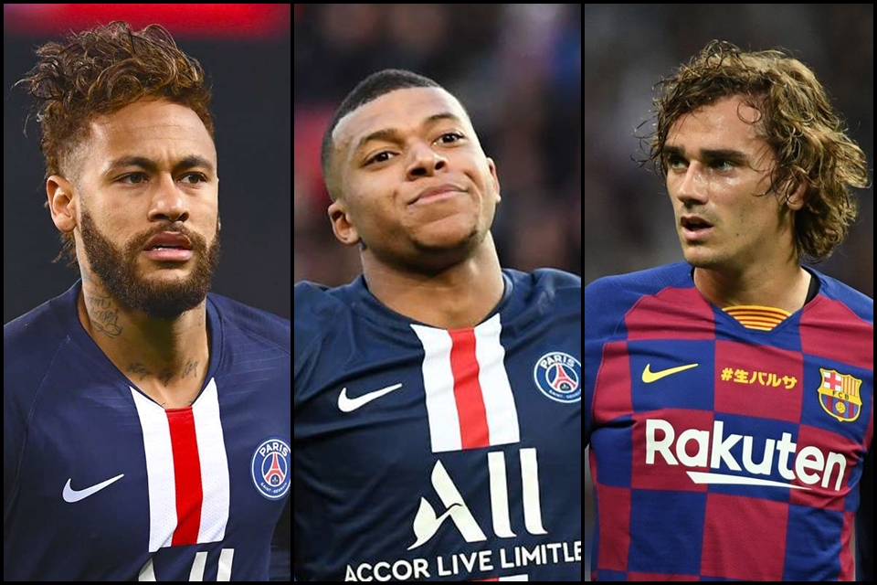 Griezmann Mbappe Neymar