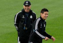 James Rodriguez dan Carlo Ancelotti