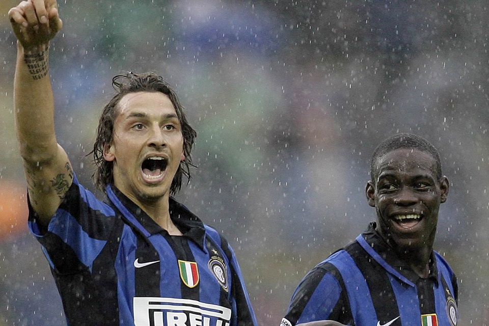 Mario Balotelli dan Zlatan Ibrahimovic