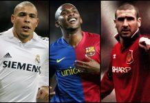Ronaldo da Lima, Etoo, Cantona