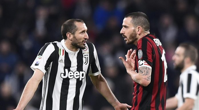 Chiellini Juventus dan Bonucci AC Milan