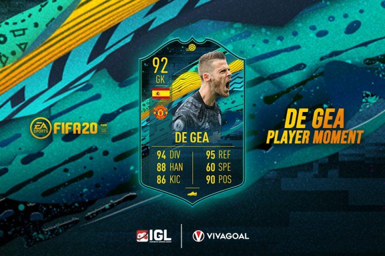 Special Card David De Gea Alami Kenaikan Rating di FIFA 20